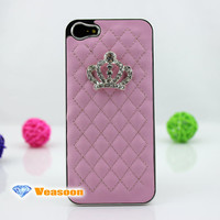leather iphone 4 case,crown iphone case,rhinestone iphone case,top iphone case,iphone 4 case for girls,designer iphone 5 case,leather case