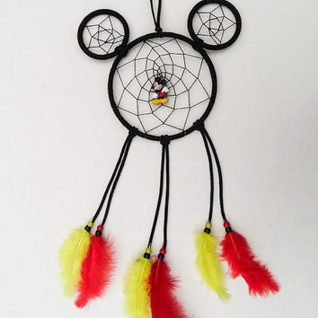 Disney Mickey Mouse inspired dreamcatCher with charm