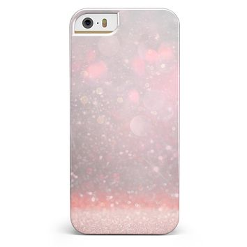 Muted Pink and Grunge Shimmering Orbs iPhone 5/5s or SE INK-Fuzed Case