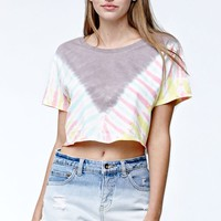 Billabong No Bad Waves Tie-Dye Cropped T-Shirt - Womens Tee - Multi
