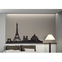 Vinyl Decal Cities of the World Wall Sticker Paris Sights Eiffel Tower Arch Cathedral Unique Gift (n379)