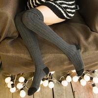 Long Knitted Over Knee Socks