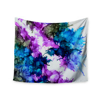 "Claire Day ""Utopia"" Blue Pink Wall Tapestry"