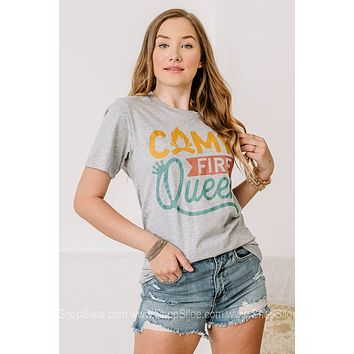 Camp Fire Queen Graphic Tee