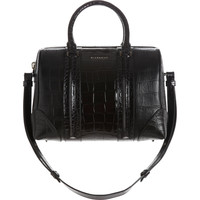 Croc-Stamped Medium Lucrezia Duffel