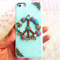 Handmade Peace Sign Phone Case For iPhone5 iPhone4/4s