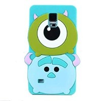 Thunderous Cute Cartoon Q Version Design Series Soft Silicone Back Case for Samsung Galaxy S5 SV I9600 (Monster Sulley)
