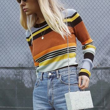 UO Keira Crew-Neck Pullover Sweater   Urban Outfitters
