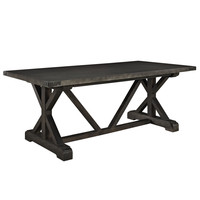 Anvil Industrial Modern Wood Dining Table in Black