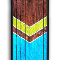 Chevron Classic On Wood for Iphone 6 Hard Cover Plastic