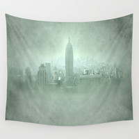 New York Fantasy II Wall Tapestry by Guido Montañés