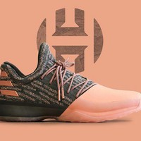 Adidas James Harden Vol. 1 PK Gila Monster US SZ 15 Salmon Pink B39494 Boost nmd