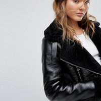 Bershka Aviator Jacket at asos.com