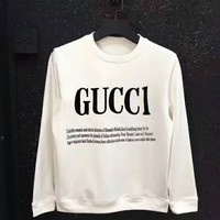 GUCCI Hooded Fashion Long Sleeve Top Sweater White Hoodie Sweatshirt