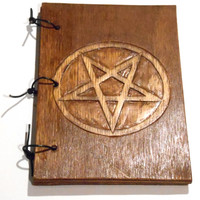 Pentacle Ritual Book, For Wicca Wiccan Witch, Book of Shadows, Grimoire