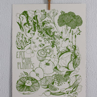 "Eat More Plants Print, 18"" x 24"""
