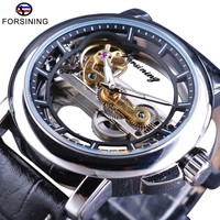 Forsining Men's Mechanical Watches with Automatic Winding Steampunk Watch Waterproof Design Mens Watches Top Brand Luxury Clock