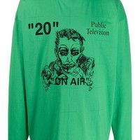 "Green ""On Air"" Public Television Long Sleeve Shirt by OFF-WHITE"
