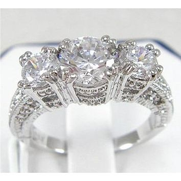 Victoria Wieck Simulated Diamond White Gold Ring