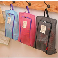New Style Shoe Pouch Storage Included Bag Black Pink Shoe Collection Storage Organize Ventilate Travel Trip Organization