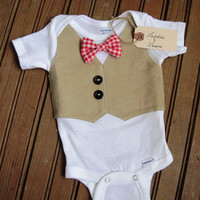 Baby Boy 4th of July Bow Tie Onesuit, 4th of July baby outfit, patriotic Onesuit, fourth of july Onesuit, baby boy fourth of july, americana