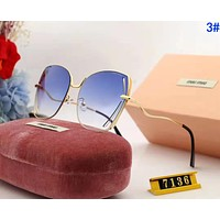 MiuMiu Popular Woman Summer Sun Shades Eyeglasses Glasses Sunglasses 3#