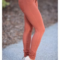 Perfect Fit Jeggings Rust