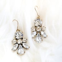 Selene Crystal Dangle Earrings