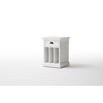 Halifax French Countryside Bedside Table with dividers White Semi-gloss