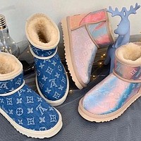 UGG x LV Louis Vuitton fashion men's and women's snow boots non-slip and warm snow shoes 1