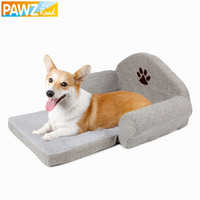Dog Bed Pet Soft Cushion Kennel Cute Paw Design Pet Sofa Gray Color Dog Sofa Dog House Winter For Pet Great Quality