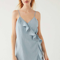 UO Ruffle Wrap Skort Romper | Urban Outfitters