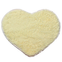 40X50cm Shaggy Heart Shower Rug Bath Mat Carpet Doormat Home Decor
