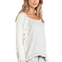 Free People Only You Hoodie in Gray