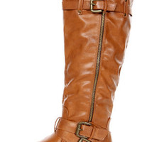 Bianca 5 Tan Zipped and Belted Riding Boots