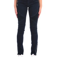 Tractr Pleated Patch Front Moto Skinny