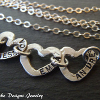 Fine silver childs name necklace mother personalized jewelry