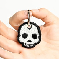 SKULL PATCH KEYCHAIN