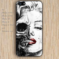 iPhone 5s 6 case skull case phone case iphone case,ipod case,samsung galaxy case available plastic rubber case waterproof B281
