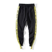 spbest Off White STRAP Sport Pants