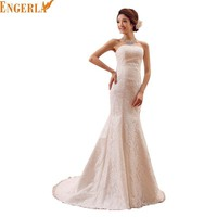 2016 New Spring and Summer Style Mermaid Wedding Dresses Lace Satin Wedding Gowns  Princess Wedding Free Shipping