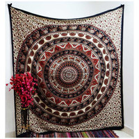 Red Star Mandala Tapestry Wall Hanging Dorm Decor Bedspread – TheNanoDesigns