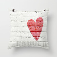 L'amour Throw Pillow by Marianne LoMonaco