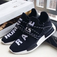 Adidas NMD Human Race Black Leisure Running Sports Shoes