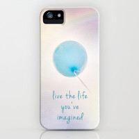 balloon love: live the life you've imagined iPhone & iPod Case by Sylvia Cook Photography