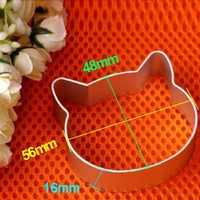 VONC1Y Cat Head Shaped Christmas Kitchen Tools Aluminium Alloy Fondant Cookie Cake Sugarcraft Plunger Cutter Free Shipping