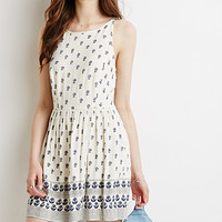 Ladder-Back Floral Dress