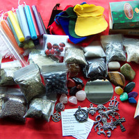 Assorted Pagan Wicca Supplies - Herbs Botanica Incense Candles Charms Stones Mirror Mojo Bag + More