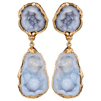 Gray Geode Merle Earrings, Drops Earrings