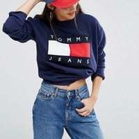 Tommy Jeans Fashion Long Sleeve Pullover Sweatshirt Top Sweater1